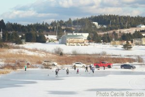 Cape Breton Photo of the Week: Pond hockey in L'Ardoise