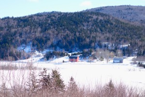 Cabot Trail winter road trip - Along the Margaree River
