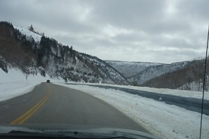 Cabot Trail winter road trip