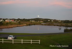 Cape Breton Photo of the Week: L'Ardoise moonrise