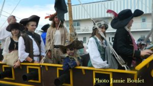 Hop aboard on the Jolly Roger At the Pirate Parade Event in ST Peter's.