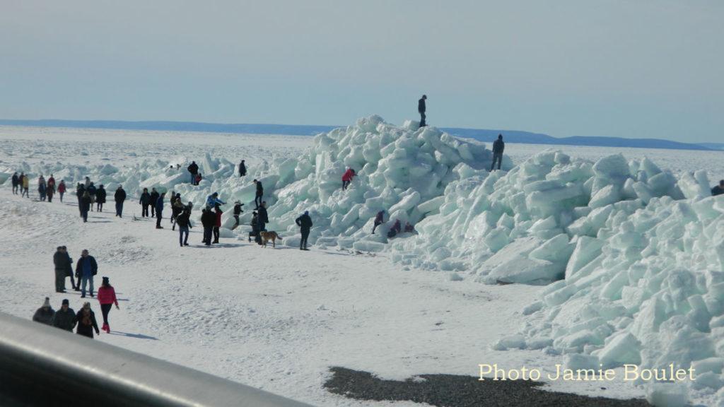 Ice wall Irish Vale