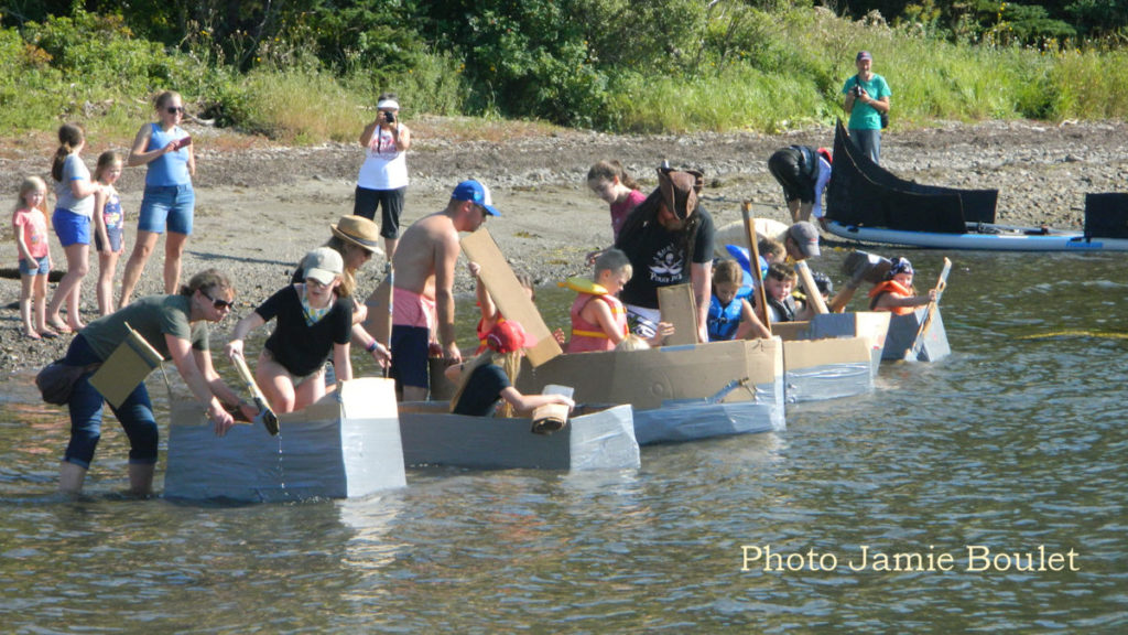 Jamie Boulet Remembering 2018 - Cardboard races a part of the Pirate Days in St Peters Battery Park