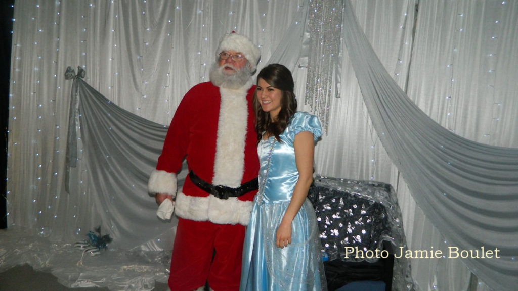 Jamie Boulet Remembering 2018 - Santa Clause & Cinderella Posing for pictures