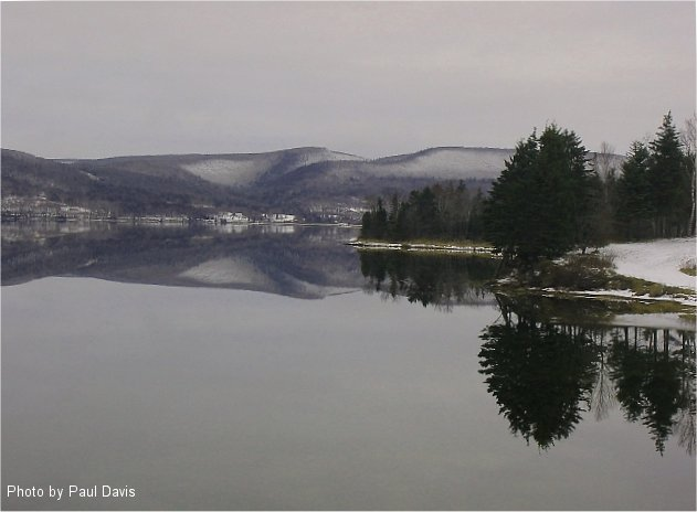 Photo of the Week Memories: December 2004. Bras d'Or Lake Trans Canada Hwy 105.