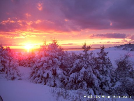 Photo of the Week Memory: February 18, 2011 Winter sunset in L'Ardoise.