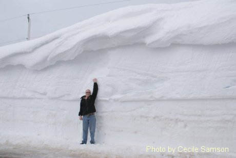 Cape Breton Highlands - Cabot Trail. High snowbanks in the mountains back in March 2011. This photo was posted as Photo of the Week on March 11, 2011.