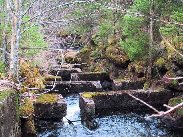Cape Breton Living Photo of the Week Memories: 2002 Grand River Falls The old Fish Ladder.