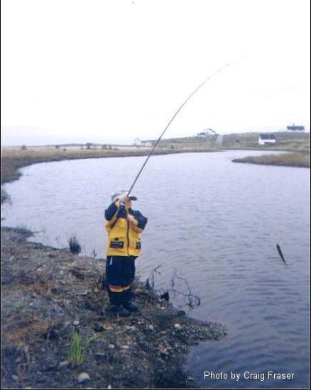 Cape Breton Photo Memories: Chapel Cove Rd 2004. L'Ardoise -   Look, little Paul caught a fish! Fishing with Dad, down on Chapel Cove Rd. This photo was posted as Photo of the Week on June11, 2004.