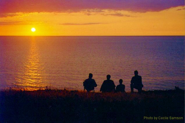 """Cape Breton Living Photo Memories: Dunvegan 2002 Dunvegan 2002 Cape Breton Island -  """"It is almost impossible to watch a sunset and not dream."""" - Bern Williams"""