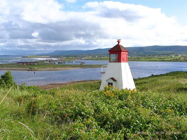 """Cape Breton Living Photo Memories: Margaree Harbour 2004 Margaree Harbour Range Lighthouse, Cape Breton """"Lighthouses don't go running all over an island looking for boats to save. They just stand there shining."""" - Anne Lamott"""
