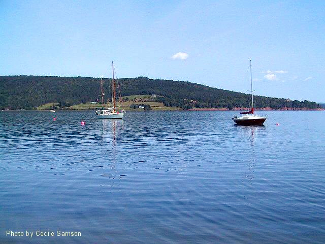 """Cape Breton Living Photo Memories: Baddeck 2003 Baddeck, Cape Breton """"The mind is like water. When it's turbulent, it's difficult to see. When it's calm, everything becomes clear."""" - Prasad Mahes This photo was posted as Photo of the Week on September 5, 2003."""